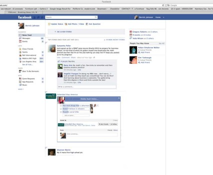 Once the Pandora listener answers, the poll is posted on his Facebook wall.  Other family members may take part as well.