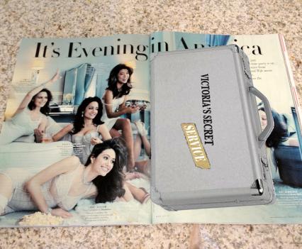 "Magazine insert of a ""Victoria's Secret Service"" agent's briefcase"
